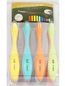 A set of 8 crochet hooks. Sizes: 2.5mm, 3mm, 3.5mm, 4mm, 4.5mm, 5mm, 5.5mm, 6mm Multicolor, Brand ICE, acs-1118