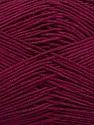 Ne: 8/4. Nm 14/4 Fiber Content 100% Mercerised Cotton, Brand ICE, Burgundy, Yarn Thickness 2 Fine  Sport, Baby, fnt2-49598