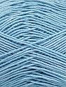 Ne: 8/4. Nm 14/4 Fiber Content 100% Mercerised Cotton, Light Blue, Brand ICE, Yarn Thickness 2 Fine  Sport, Baby, fnt2-49605