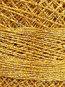 Fiber Content 70% Polyester, 30% Metallic Lurex, Brand YarnArt, Silver, Gold, Yarn Thickness 0 Lace  Fingering Crochet Thread, fnt2-52252