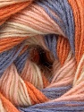 Fiber Content 60% Acrylic, 20% Wool, 20% Angora, Orange, Lilac, Light Pink, Brand ICE, Cream, Yarn Thickness 2 Fine  Sport, Baby, fnt2-53558