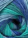 Fiber Content 60% Acrylic, 20% Wool, 20% Angora, Turquoise Shades, Brand ICE, Blue Shades, Yarn Thickness 2 Fine  Sport, Baby, fnt2-53565