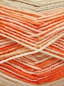 Fiber Content 70% Acrylic, 30% Wool, Orange Shades, Brand ICE, Cream, Beige, Yarn Thickness 2 Fine  Sport, Baby, fnt2-53768