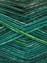Fiber Content 75% Superwash Wool, 25% Polyamide, Brand ICE, Green Shades, fnt2-54878