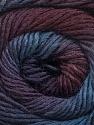 Fiber Content 50% Acrylic, 50% Wool, Purple, Maroon, Brand ICE, Blue Shades, Yarn Thickness 2 Fine  Sport, Baby, fnt2-55518