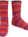 Fiber Content 75% Superwash Wool, 25% Polyamide, Salmon, Red, Purple, Orange, Brand ICE, Yarn Thickness 1 SuperFine  Sock, Fingering, Baby, fnt2-55660