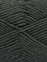 Fiber Content 50% SuperFine Acrylic, 50% SuperFine Nylon, Brand ICE, Dark Grey, Yarn Thickness 4 Medium  Worsted, Afghan, Aran, fnt2-56280