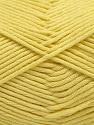 Fiber Content 50% SuperFine Acrylic, 50% SuperFine Nylon, Light Yellow, Brand ICE, Yarn Thickness 4 Medium  Worsted, Afghan, Aran, fnt2-56284