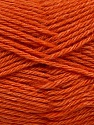 Fiber Content 65% Merino Wool, 35% Silk, Orange, Brand ICE, Yarn Thickness 3 Light  DK, Light, Worsted, fnt2-57678