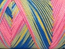 Fiber Content 100% Acrylic, Yellow, Pink, Brand Ice Yarns, Blue Shades, fnt2-64657
