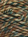 Fiber Content 75% Acrylic, 25% Superwash Wool, Brand Ice Yarns, Green Shades, Brown Shades, fnt2-65760