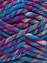 Fiber Content 75% Acrylic, 25% Superwash Wool, Brand Ice Yarns, Fuchsia, Blue Shades, fnt2-65762