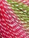 Fiber Content 40% Polyamide, 35% Acrylic, 15% Mohair, 10% Metallic Lurex, Red, Pink, Brand Ice Yarns, Green, fnt2-65809