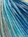 Fiber Content 50% Modal, 35% Acrylic, 15% Wool, Turquoise Shades, Brand Ice Yarns, Cream Shades, fnt2-65854