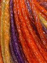 Fiber Content 40% Acrylic, 30% Metallic Lurex, 30% Wool, Purple, Orange, Olive Green, Brand Ice Yarns, Burgundy, fnt2-65916