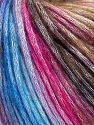 Fiber Content 50% Modal, 35% Acrylic, 15% Wool, Brand Ice Yarns, Fuchsia, Brown Shades, Blue Shades, fnt2-65918