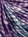 Fiber Content 77% Cotton, 23% Acrylic, Turquoise, Purple, Brand Ice Yarns, fnt2-65973