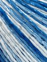 Fiber Content 70% Mercerised Cotton, 30% Viscose, White, Brand Ice Yarns, Blue Shades, fnt2-65999