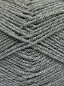 Fiber Content 94% Acrylic, 6% Metallic Lurex, Brand Ice Yarns, Grey, fnt2-66064