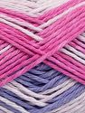 Colors in different lots may vary because of the charateristics of the yarn. Also see the package photos for the colorway in full; as skein photos may not show all colors. Fiber Content 100% Cotton, White, Pink Shades, Light Lilac, Brand Ice Yarns, fnt2-66257