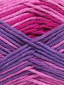 Colors in different lots may vary because of the charateristics of the yarn. Also see the package photos for the colorway in full; as skein photos may not show all colors. Fiber Content 100% Cotton, Purple Shades, Pink Shades, Brand Ice Yarns, fnt2-66258