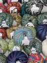 Fancy Yarns This mixed lot includes a total of 2000 gr (70.5 oz.) yarn. There is no standard for ball weight. Also disregard any information on the labels. You will get what you see in the photo. Brand Ice Yarns, fnt2-66291