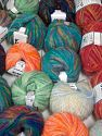 Mohair Types This mixed lot includes a total of 2000 gr (70.5 oz.) yarn. There is no standard for ball weight. Also disregard any information on the labels. You will get what you see in the photo. Brand Ice Yarns, fnt2-66293