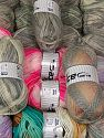 Wool Types This mixed lot includes a total of 2000 gr (70.5 oz.) yarn. There is no standard for ball weight. Also disregard any information on the labels. You will get what you see in the photo. Brand Ice Yarns, fnt2-66304