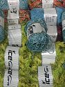 Fancy Yarns This mixed lot includes a total of 2000 gr (70.5 oz.) yarn. There is no standard for ball weight. Also disregard any information on the labels. You will get what you see in the photo. Brand Ice Yarns, fnt2-66479