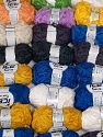 Samba Ribbon This mixed lot includes a total of 2000 gr (70.5 oz.) yarn. There is no standard for ball weight. You will get what you see in the photo. Περιεχόμενο ίνας 100% Ακρυλικό, Brand Ice Yarns, fnt2-66516