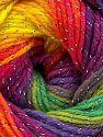 Fiber Content 95% Acrylic, 5% Lurex, Rainbow, Brand Ice Yarns, fnt2-66548