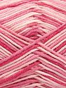 Fiber Content 50% Cotton, 50% Acrylic, Pink Shades, Brand Ice Yarns, Yarn Thickness 2 Fine  Sport, Baby, fnt2-66576