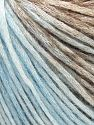 Modal is a type of yarn which is mixed with the silky type of fiber. It is derived from the beech trees. Fiber Content 74% Modal, 26% Wool, Brand Ice Yarns, Brown Shades, Baby Blue, fnt2-66593
