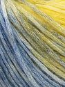 Modal is a type of yarn which is mixed with the silky type of fiber. It is derived from the beech trees. Fiber Content 74% Modal, 26% Wool, Yellow, Brand Ice Yarns, Blue Shades, fnt2-66597
